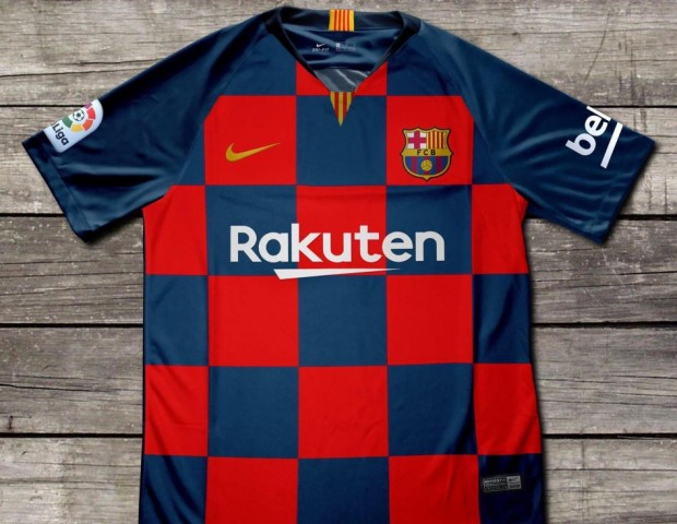 488c5451985 It remains to be seen what the actual design for the Blaugrana's 2019/20  kits will be, but for now, Barca fans will have to make do with looking at  these ...