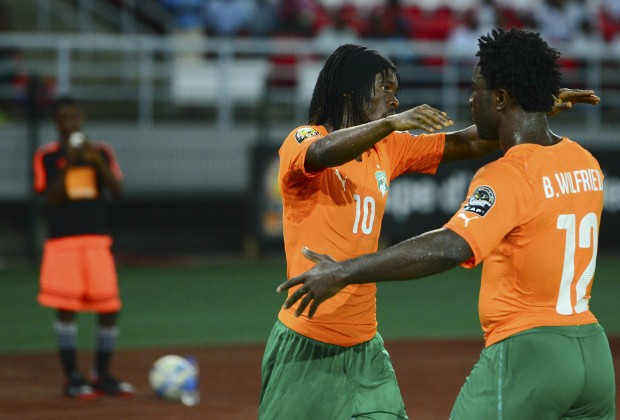 Image result for gervinho AFCON trophy 2015