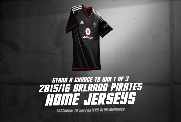 0e2cb57672e Stand a change Win 1 of 3 Orlando Pirates Home Jersey 2015 16