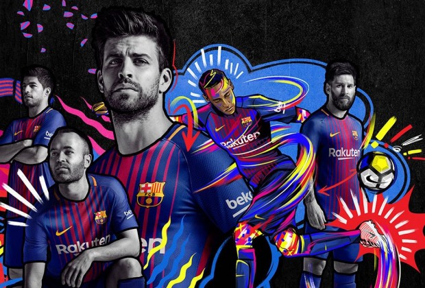 19c7eabd9 Gallery  FC Barcelona Unveil New 2017 18 Home Kit