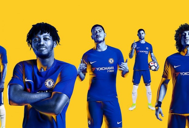 c44bd6381eb Gallery  Chelsea Unveil New 2017 18 Home   Away Kit
