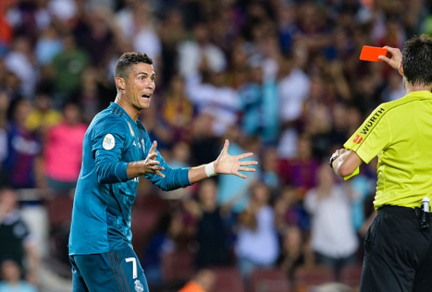 A frustrated Zinedine Zidane commented on Cristiano Ronaldo s red card in  Real Madrid s 3-1 win over FC Barcelona in Spanish Super Cup. 9f9c19269