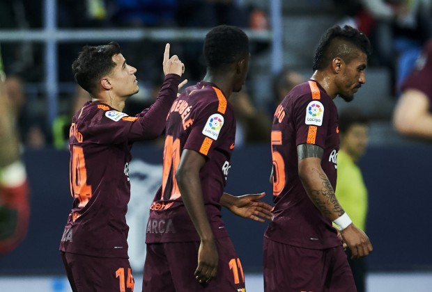 Spanish LaLiga Report  Malaga v FC Barcelona 10 March 2018 001fb163532
