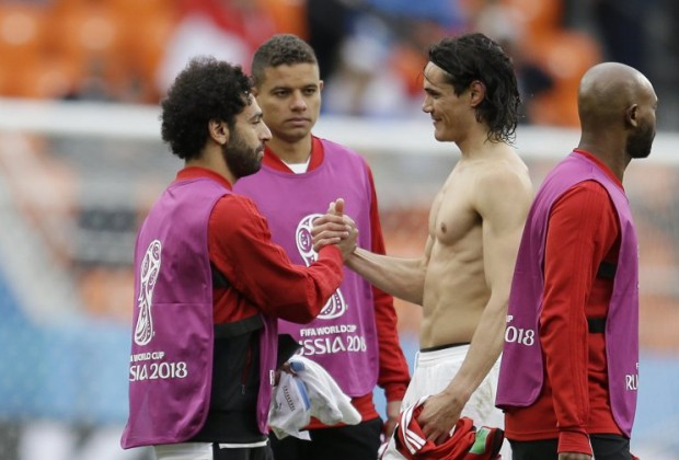 aac887a2f Uruguay superstar Edinson Cavani has revealed why he asked Liverpool and  Egypt forward Mohamed Salah for his shirt after his team s 2018 FIFA World  Cup ...
