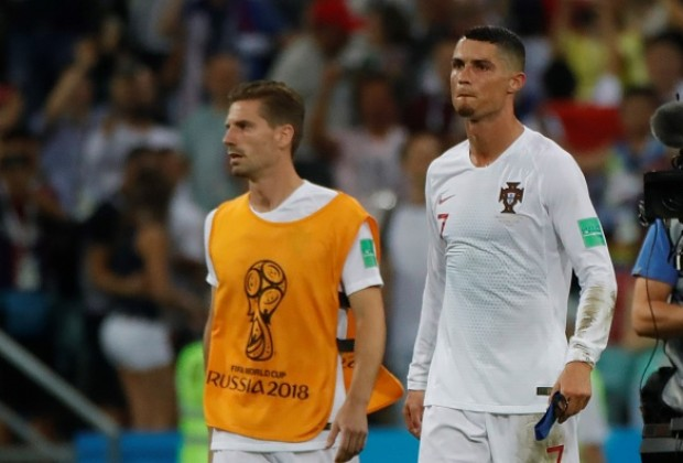 25b9bc583 Real Madrid superstar Cristiano Ronaldo, who once again failed to score in  a knockout game at a FIFA World Cup, has commented on rumours he could  retire ...