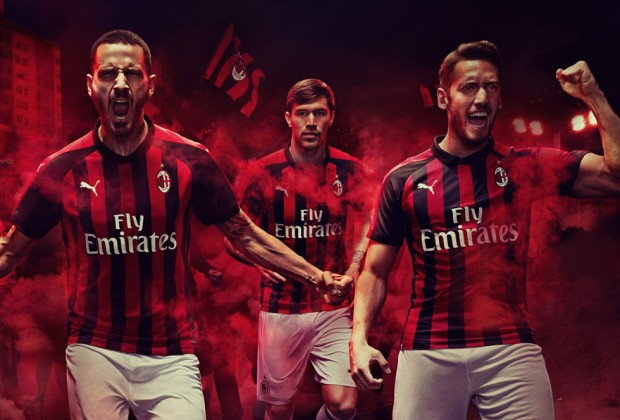 83c5725e3 Gallery  AC Milan Unveil New 2018 19 PUMA Home   Away Kits