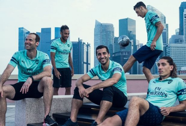 quality design 4a39f bbd5e Arsenal Unveil 2018/19 Third Kit