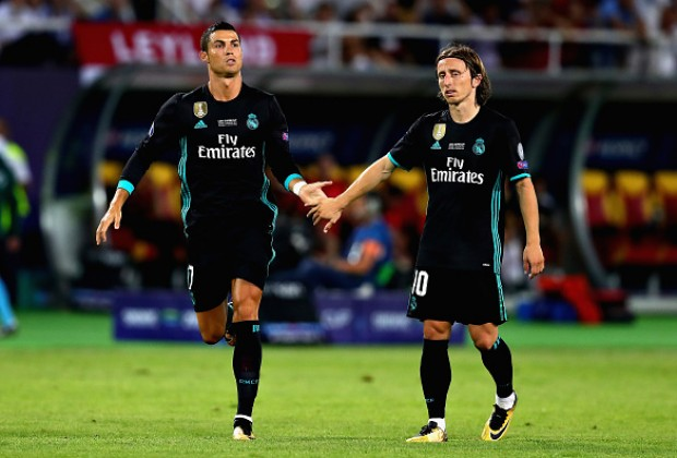 61f8a19ce0a Real Madrid star Luka Modric has revealed what Cristiano Ronaldo said to  him after he beat the Portuguese to the UEFA Player of the Year award.