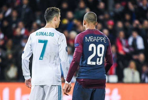 Image result for Mbappe and Ronaldo
