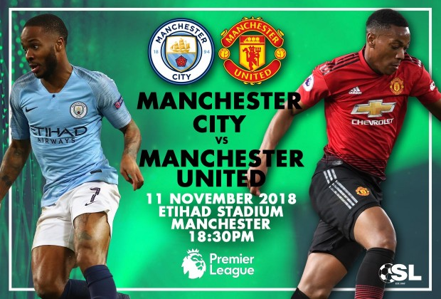 English Premier League Starting Xi Manchester City V Manchester
