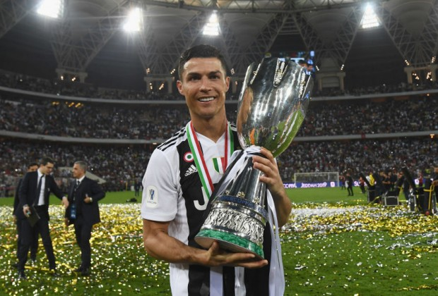 Image result for ronaldo trophy serie a