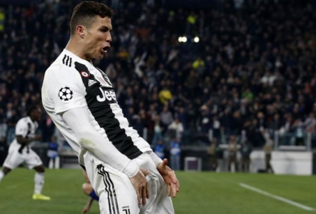 Image result for Cristiano Ronaldo Facing Ban in Champions League Quarter-Finals for Celebration