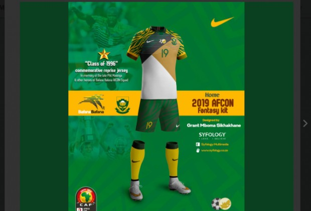 quality design 6e8ac fbce2 Fantasy Bafana Bafana AFCON Kit Making Rounds On Social Media