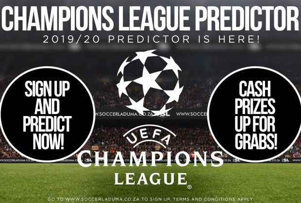 Join Soccer Laduma's Uefa Champions League Predictor!